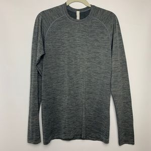 Lululemon Top Long Sleeve Gray Crew Neck Size S